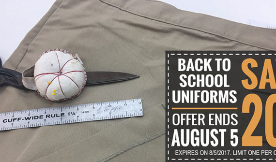 Back to School Uniform Alterations