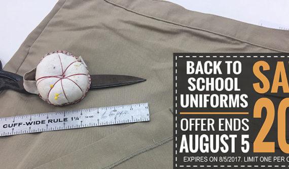 Back to School Uniform Alterations
